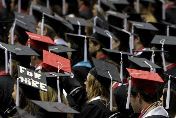 Students attend graduation ceremonies.