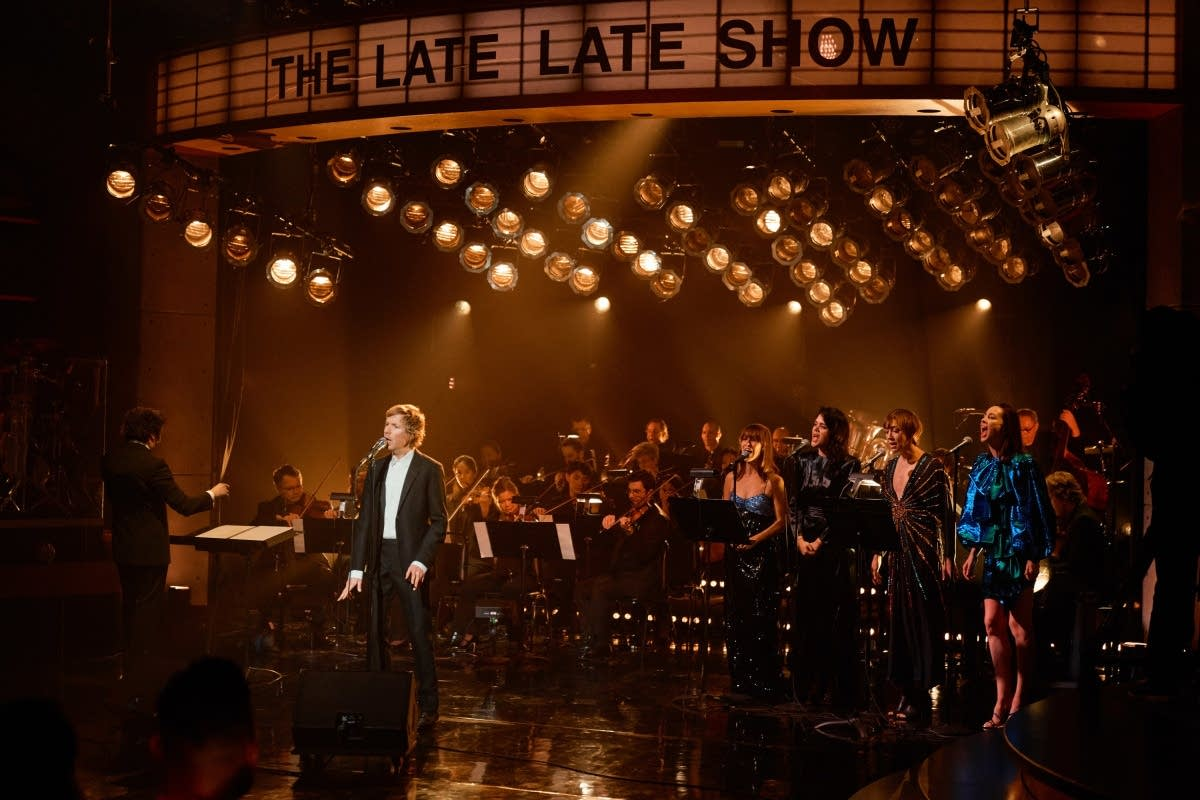 Beck performs on 'The Late Late Show with James Corden'