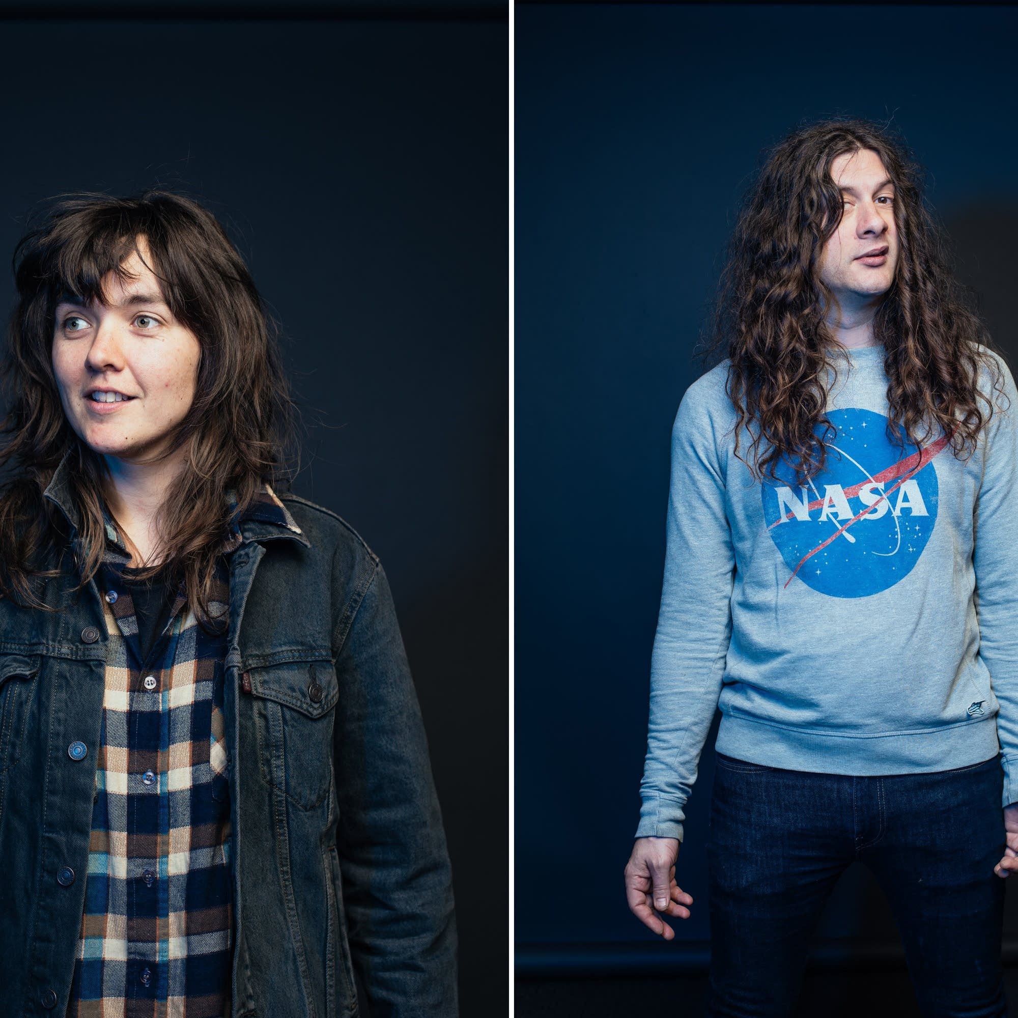 Kurt Vile and Courtney Barnett portraits at The Current