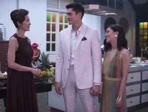 Michelle Yeoh (from left), Henry Golding and Constance Wu