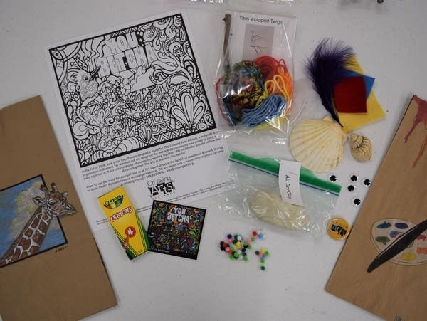 A Creativity Kit of art supplies for kids