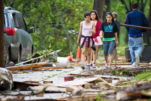 Damage in north Minneapolis