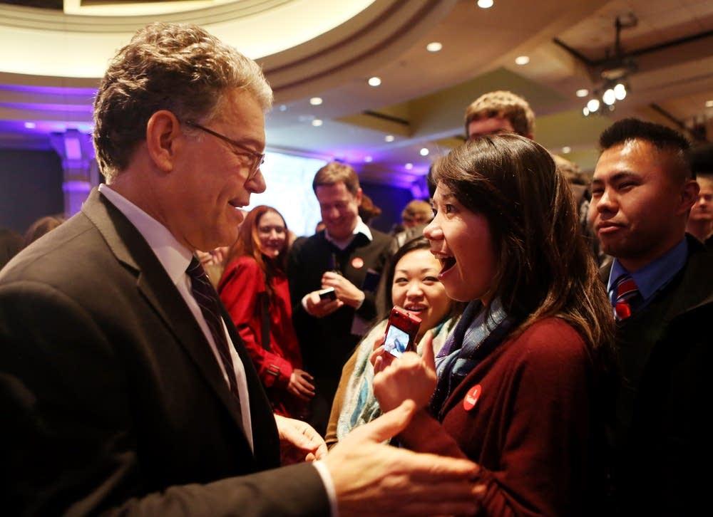 Meeting Sen. Franken