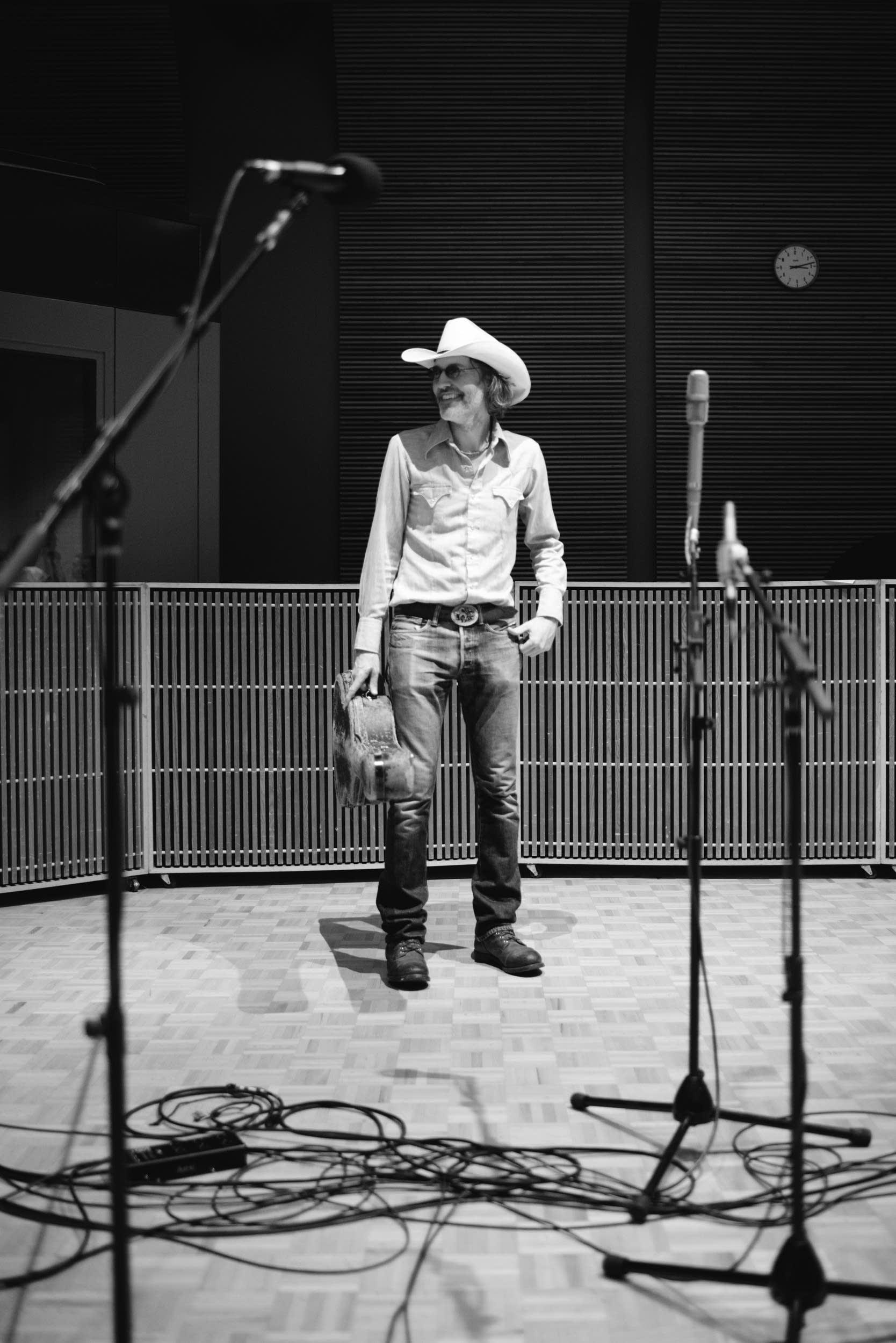 David Rawlings in the studio