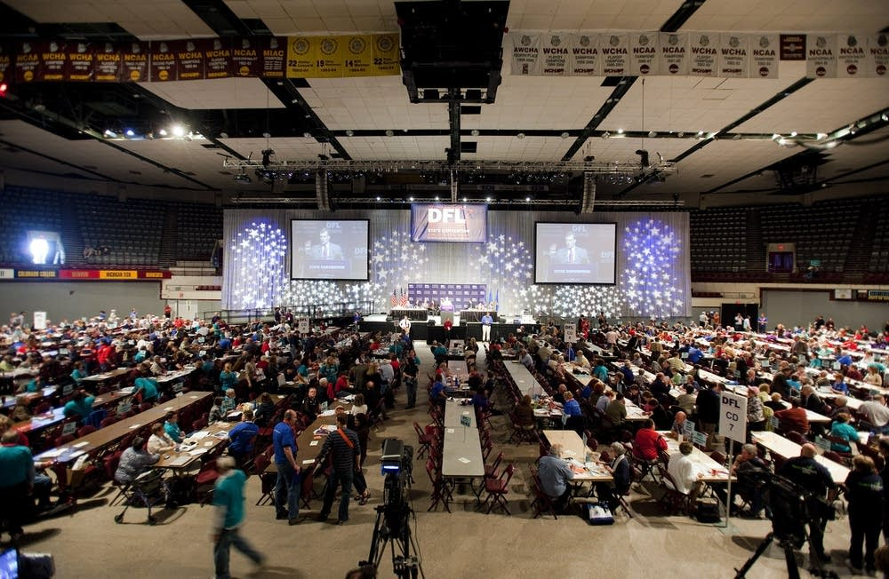 The convention floor