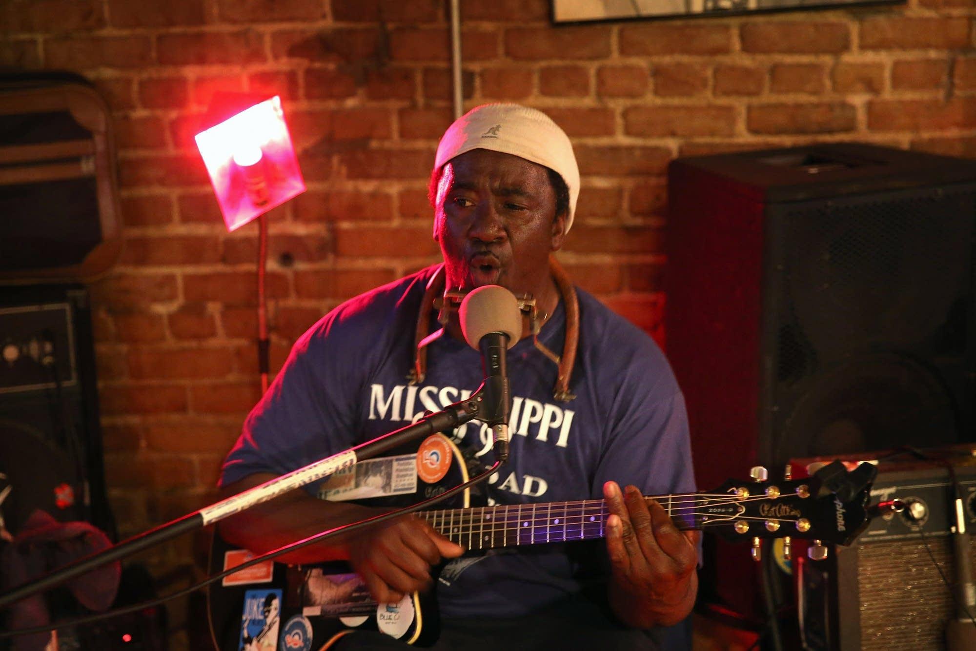 Blues musician Terry 'Harmonica' Bean