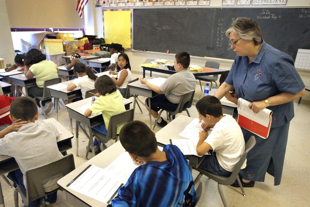 Third-grade classroom