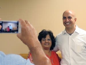 Neel Kashkari poses for a photo during a visit to Worthington.