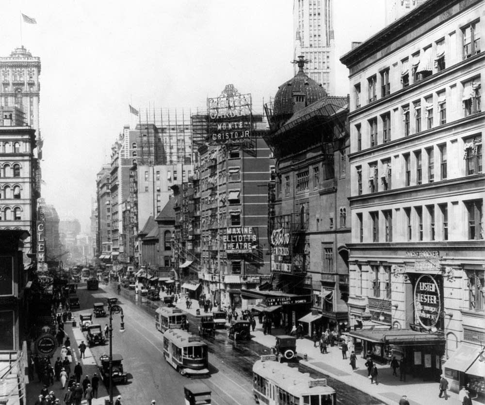 Broadway in the 1900s
