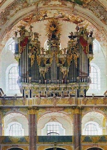 1736 Fux organ at Fürstenfeld Monastery, Fürstenfeldbruck, Germany