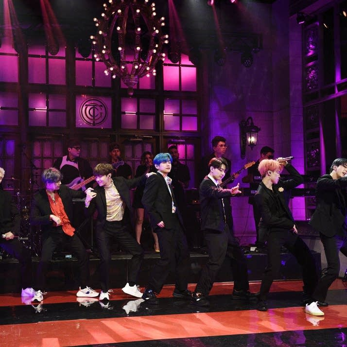 BTS performing on 'Saturday Night Live'