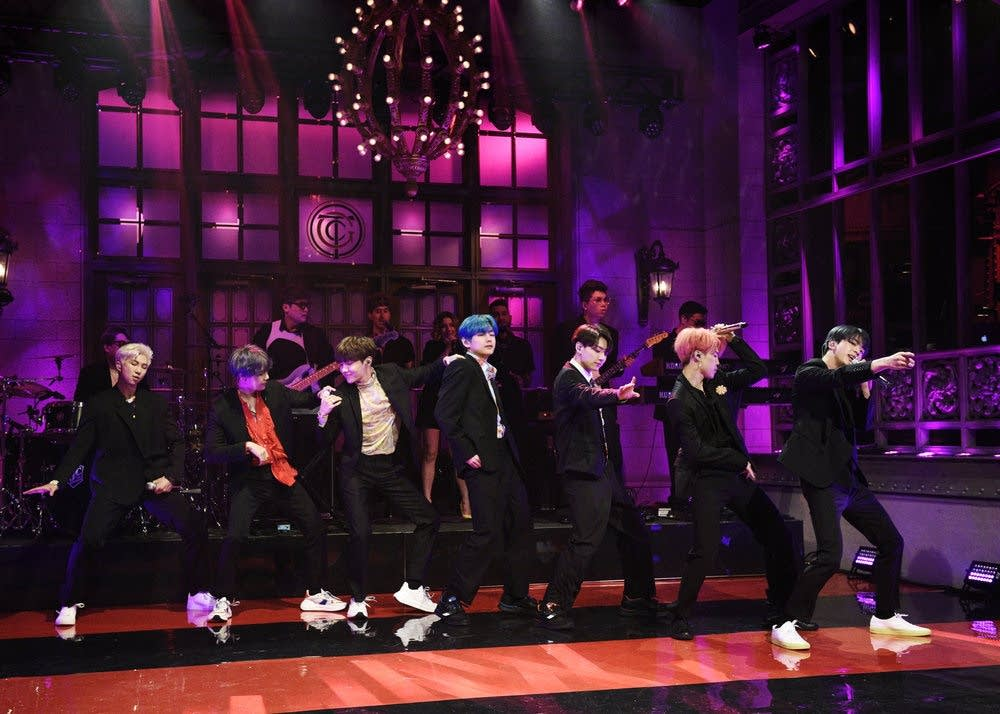 BTS performing on 'Saturday Night Live'
