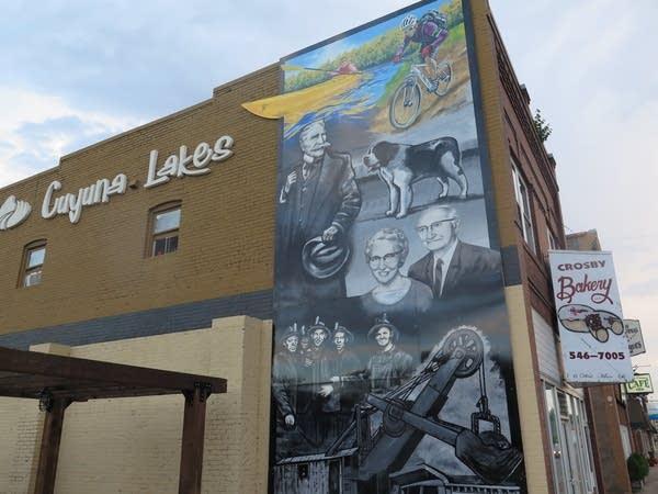 A mural in downtown Crosby, Minn.