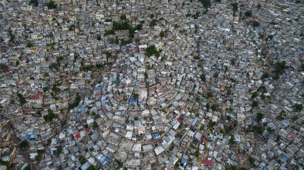 A view of a densely populated neighborhood