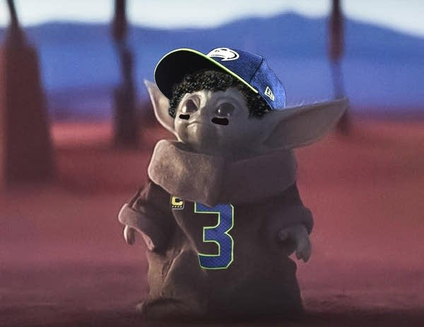 Baby Yoda Russell Wilson by Josh Cashman (@CableThanos_)