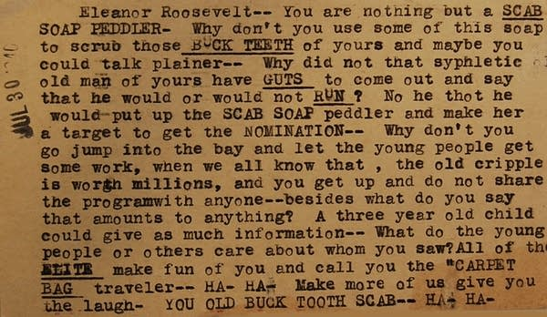 Letters to (and from) Eleanor Roosevelt