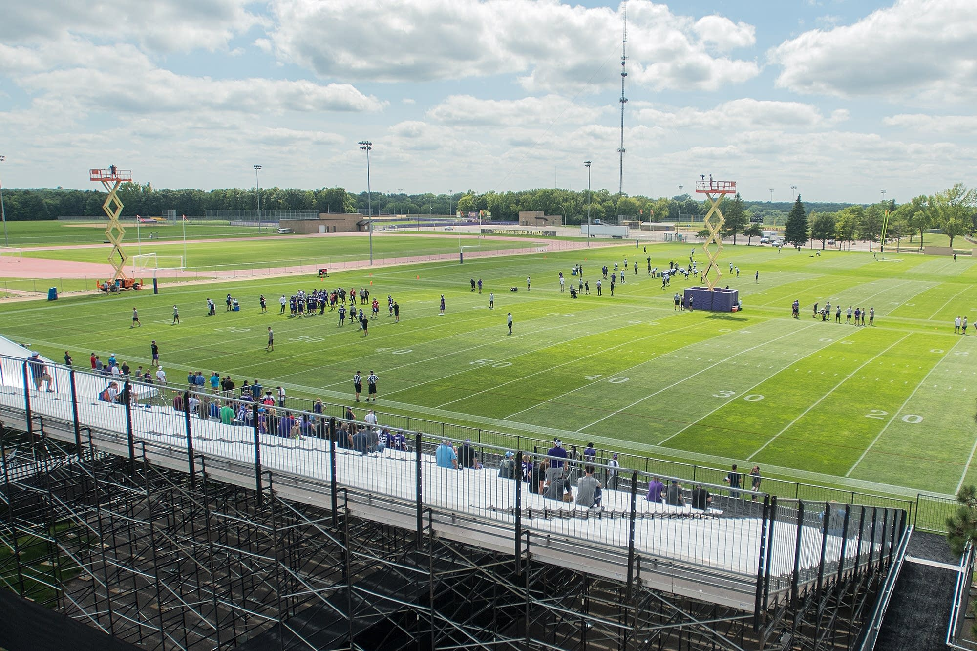 The Vikings hold their last first-afternoon practice in Mankato on July 24.