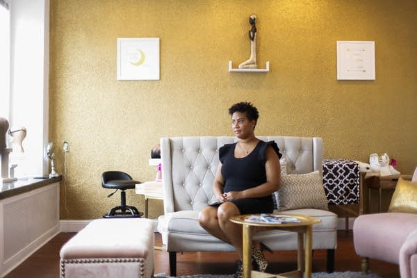 Raeisha Williams is the owner of the LashBar on W. Broadway in north Mpls.