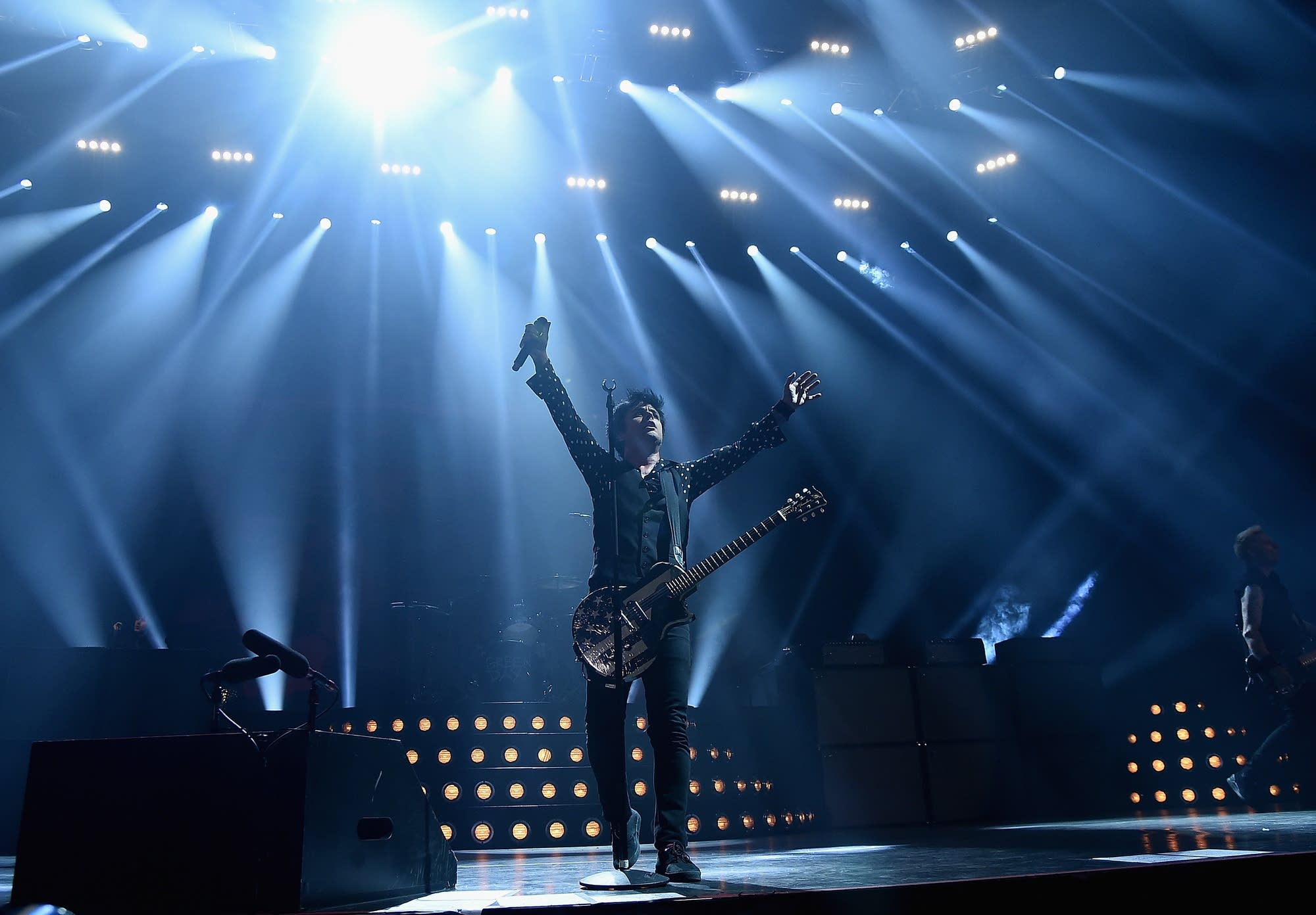Billie Joe Armstrong of Green Day performs in New York