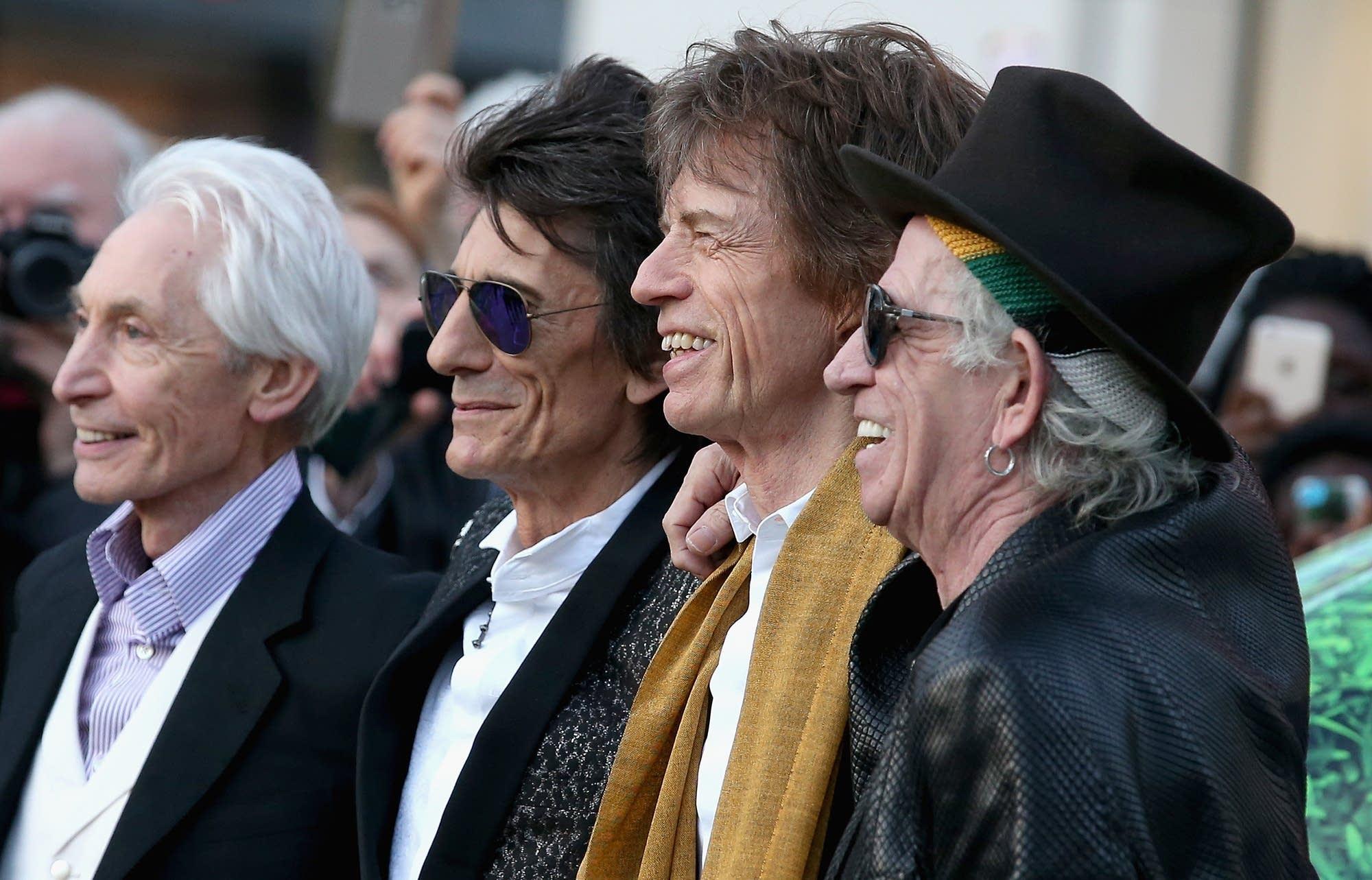 Watts, Wood, Jagger, and Richards