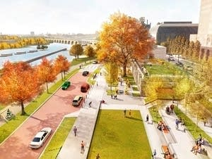 Rendering of planned Water Works redevelopment