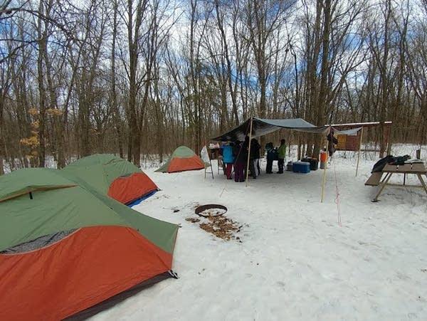 Scouts from Troop 283 Girls of Wayzata, Minn.