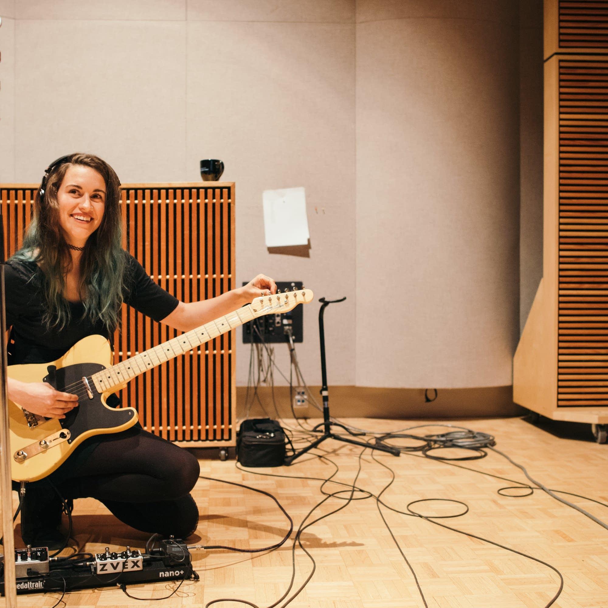 Cecelia Erholtz of Tabah in The Current's studio