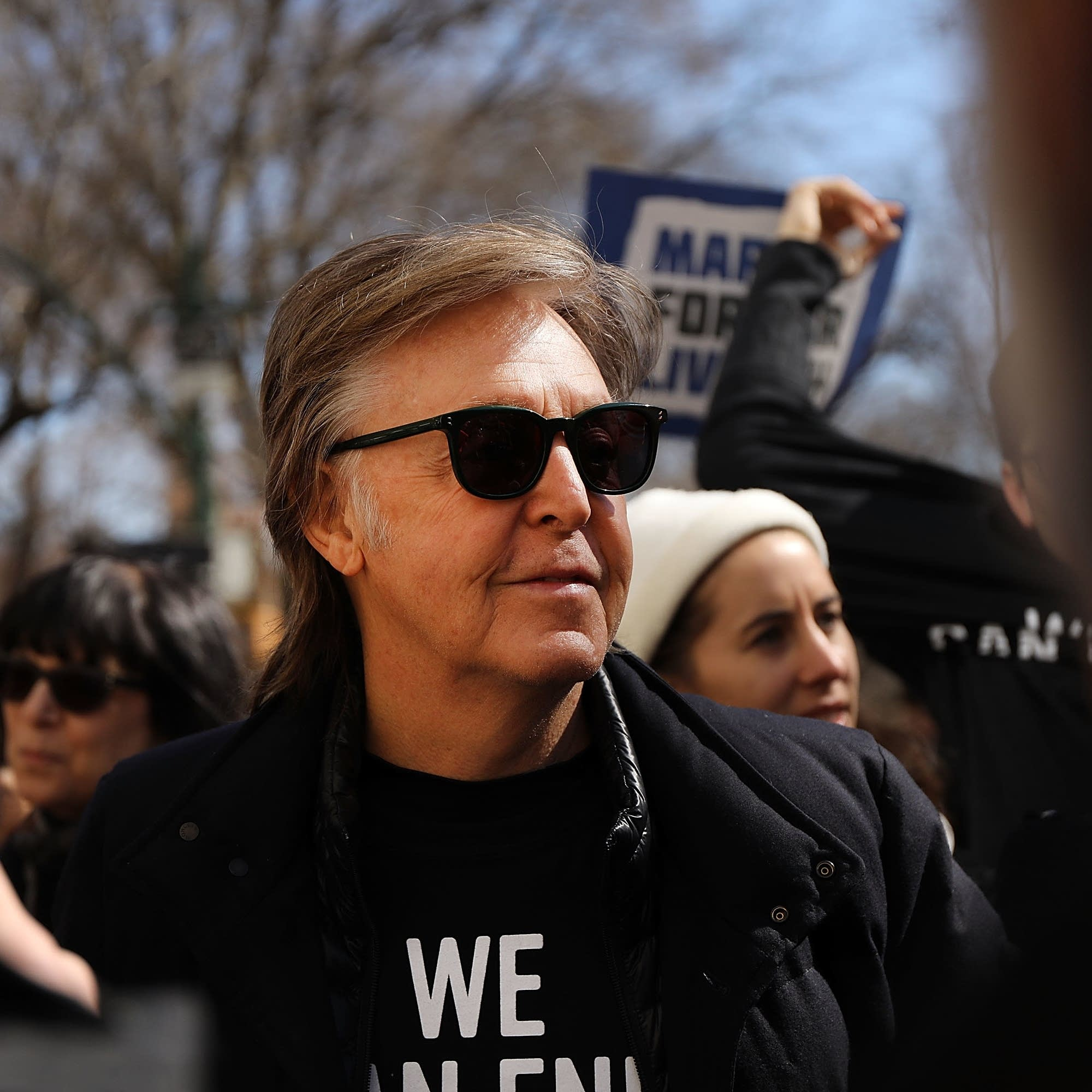 Paul McCartney at the March for Our Lives in New York City.