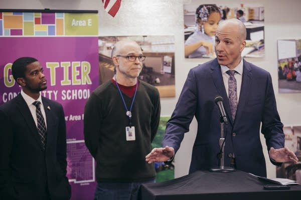St. Paul Public Schools Superintendent Joe Gothard answers questions