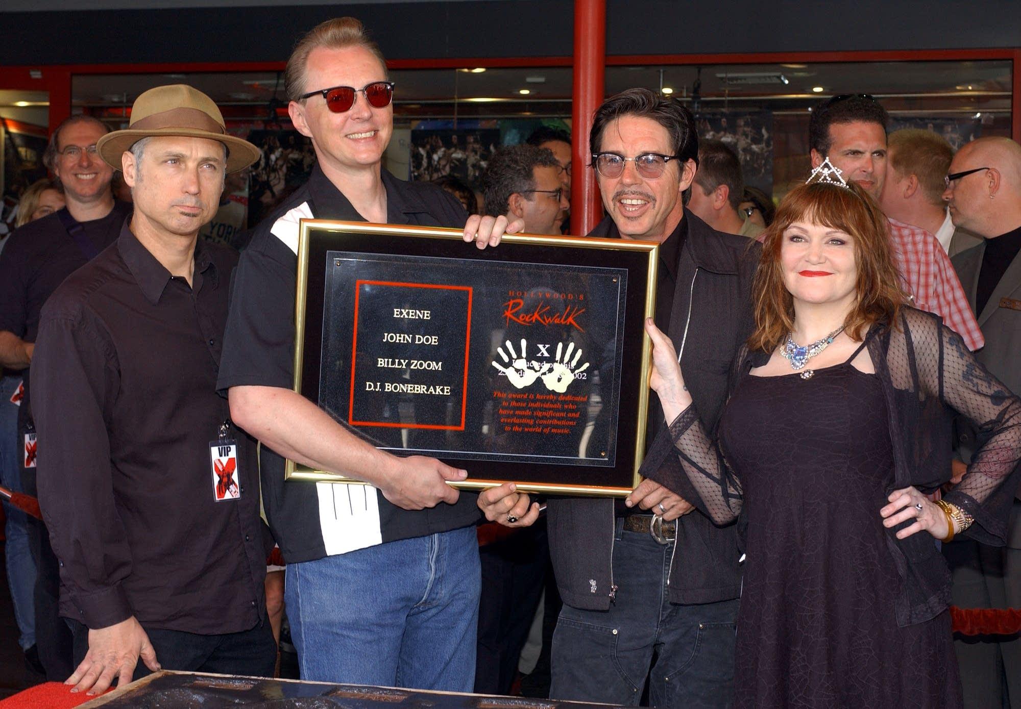 X honored at Hollywood Rockwalk