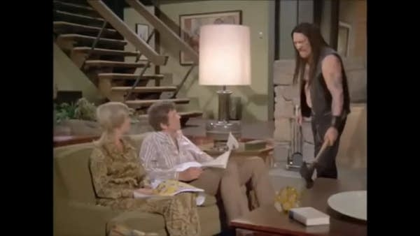 Danny Trejo in the Snickers Brady Bunch commercial