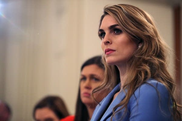 Hope Hicks attends a listening session