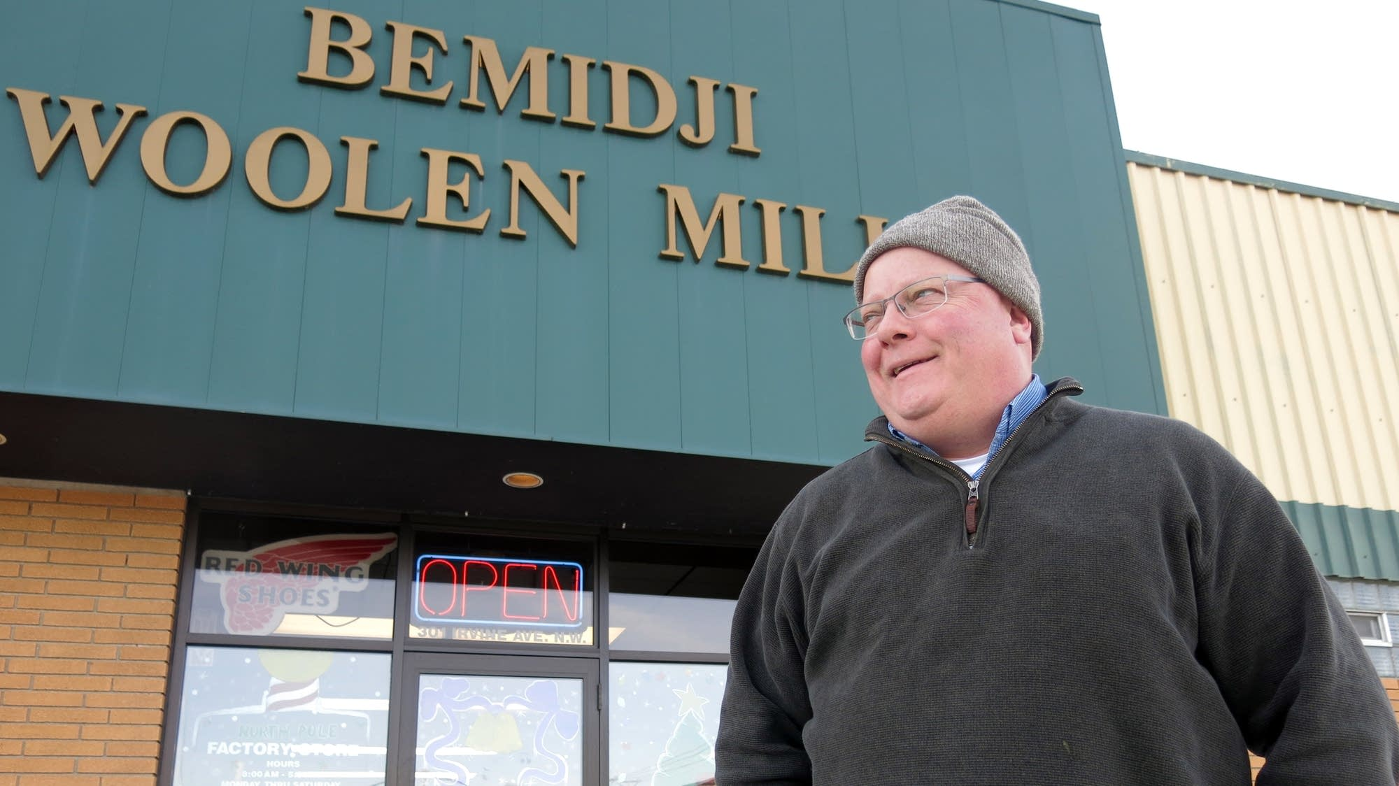 Bill Batchelder runs the Bemidji Woolen Mills company.