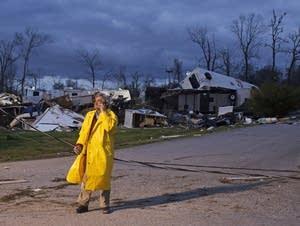 Storm damage in Louisiana