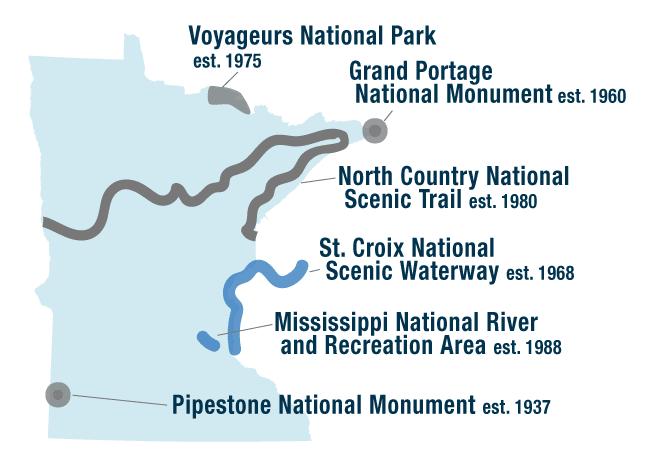 National parks of Minnesota
