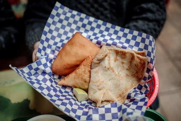 Sambusa served up at Ibrahim Restaurant.