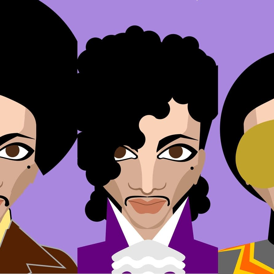 Prince illustrations by Sarah Marks