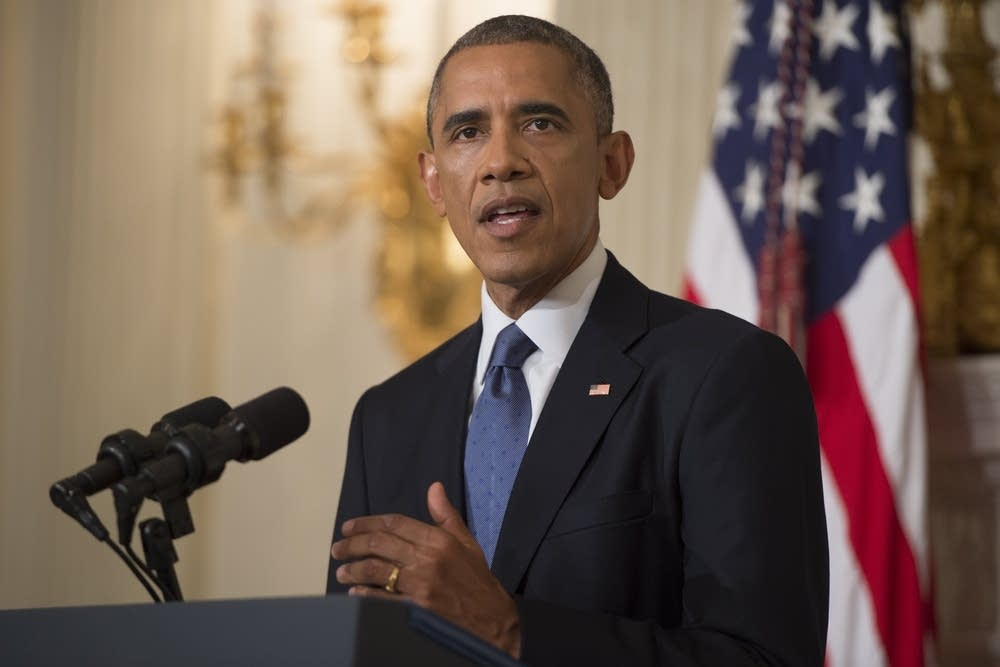 Obama speaks about the situation in Iraq