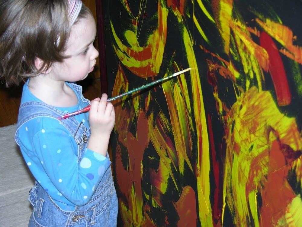 Marla paints