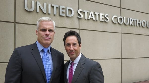 John Steele, left, and his attorney Mark Eiglarsh