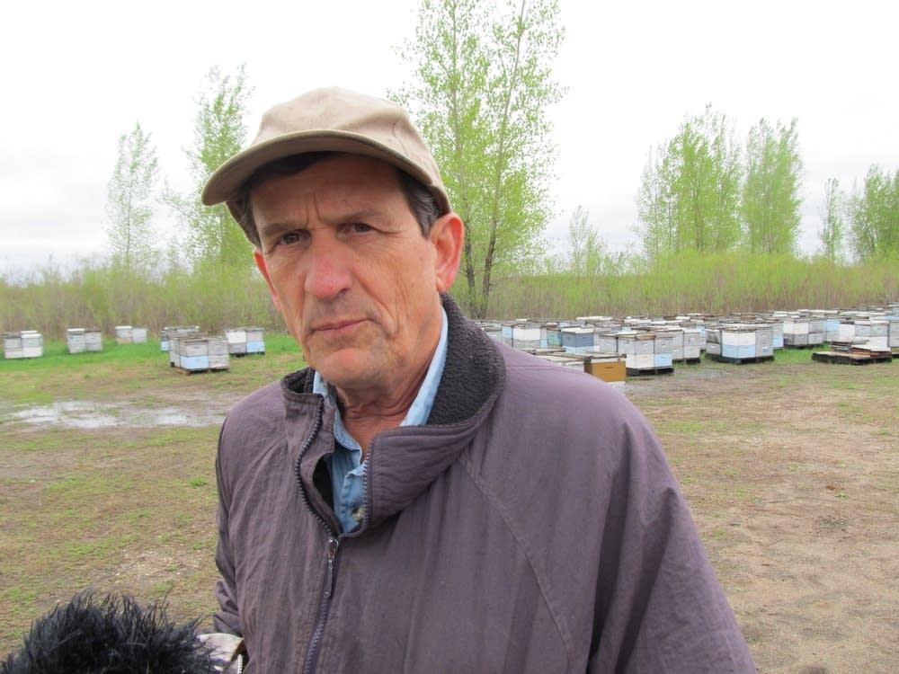 Beekeeper Steve Ellis