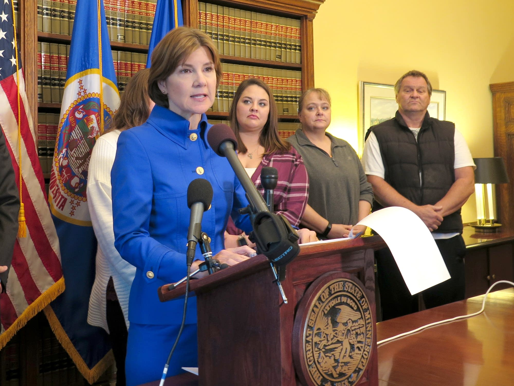 Attorney General Lori Swanson filed suit against insulin manufacturers