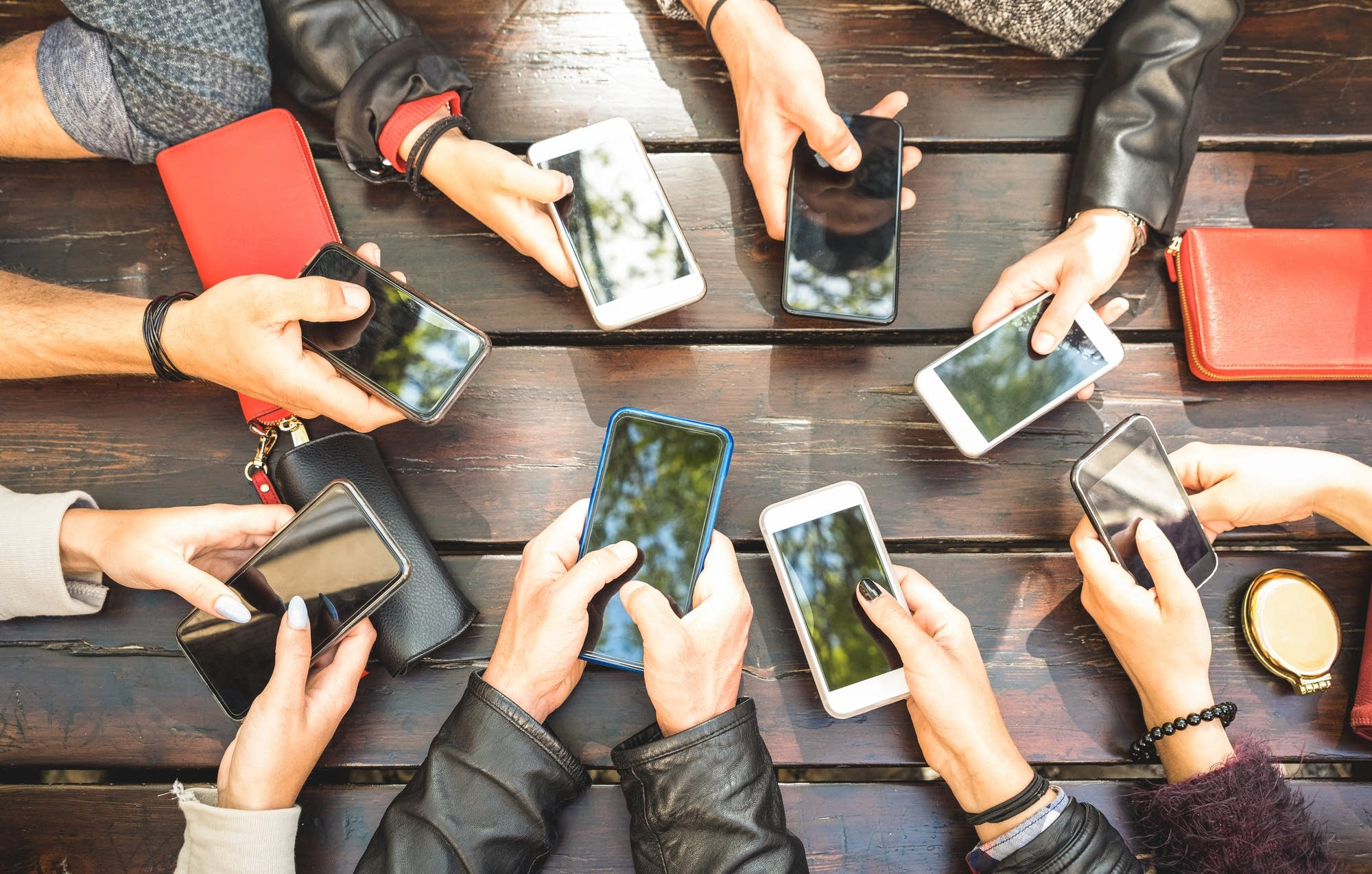 Image result for image of people using phone