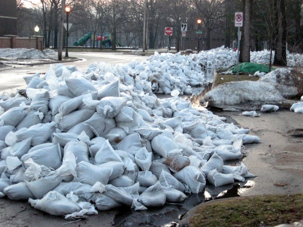 Sandbags waiting