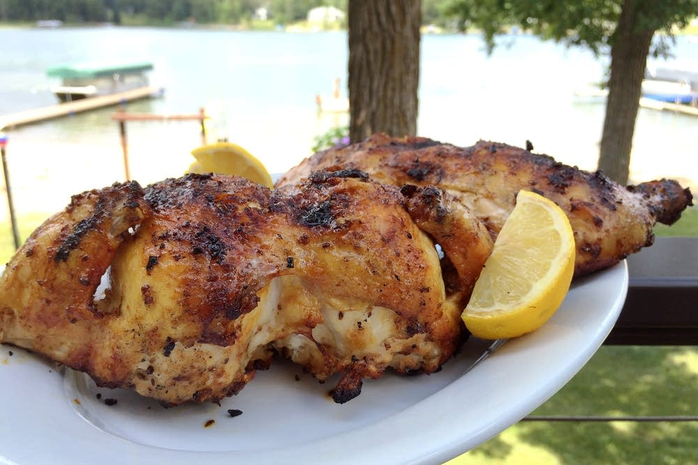 Grilled chicken on the bone