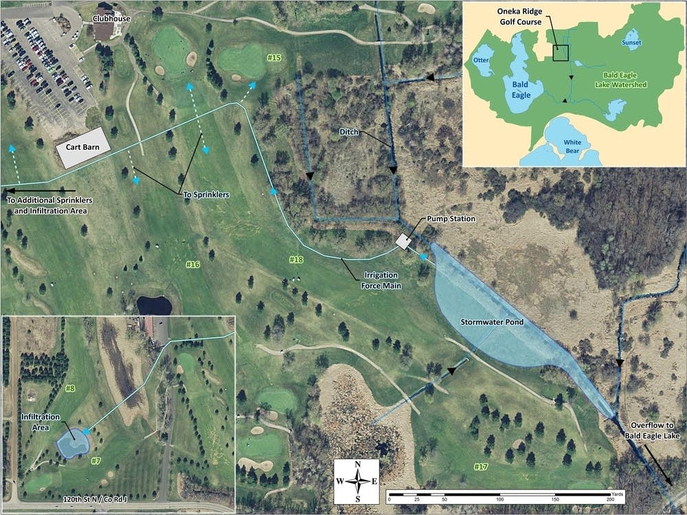 Map of water reuse irrigation project