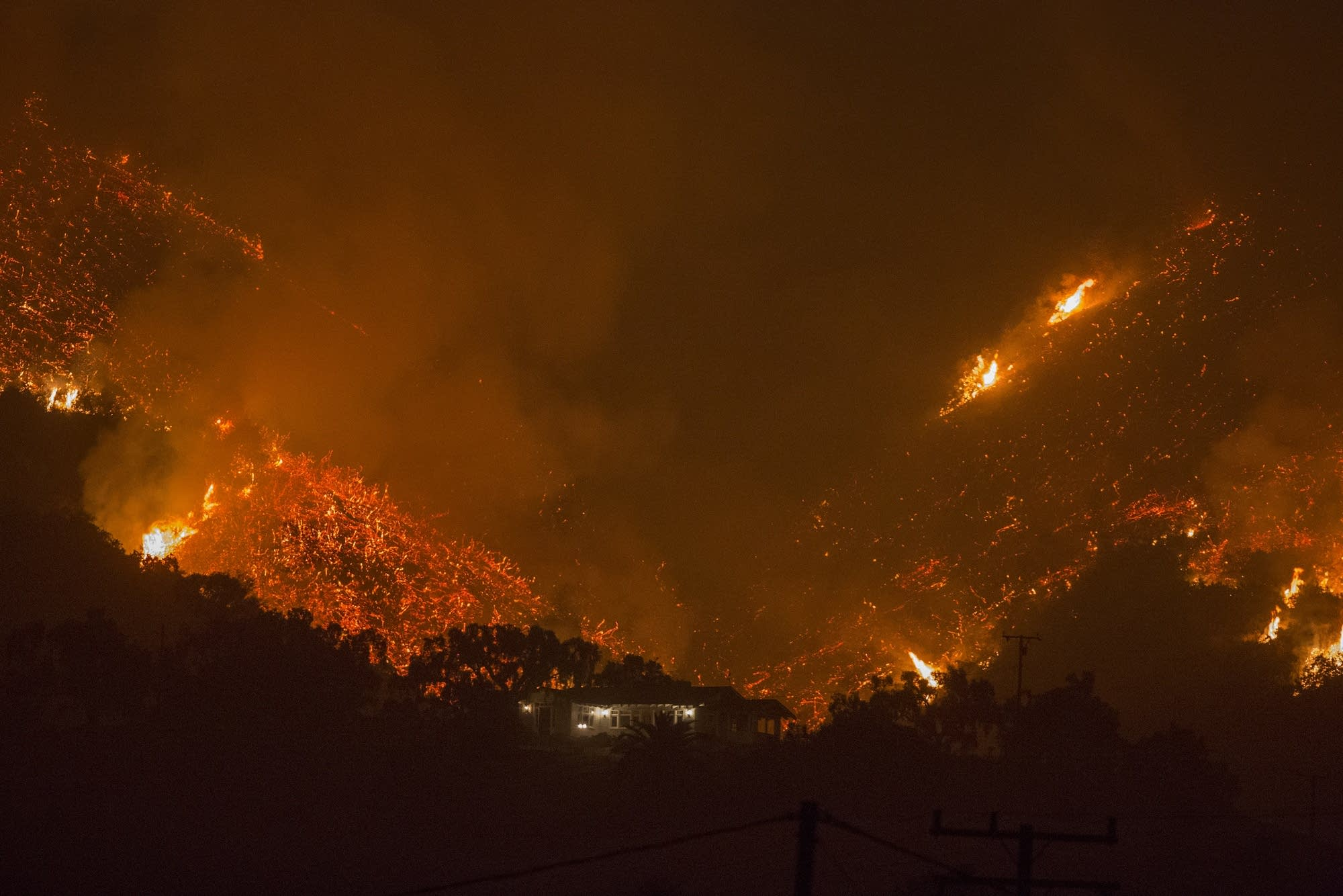 Southern California wildfires forced thousands to evacuate.