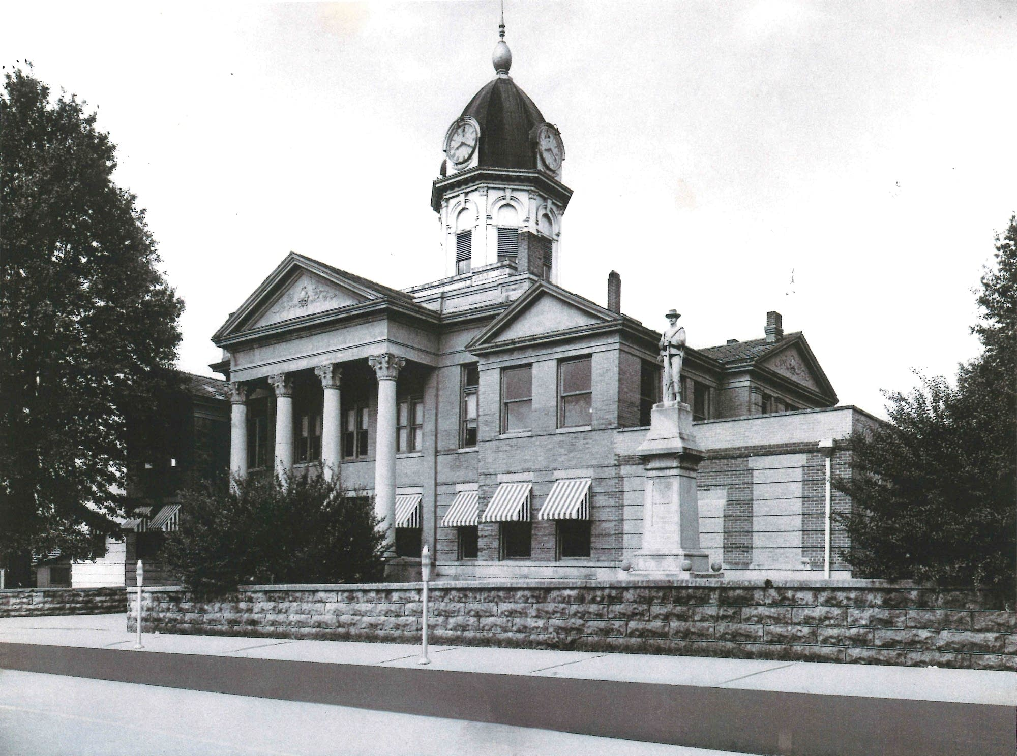 The historic Montgomery County courthouse in Winona.