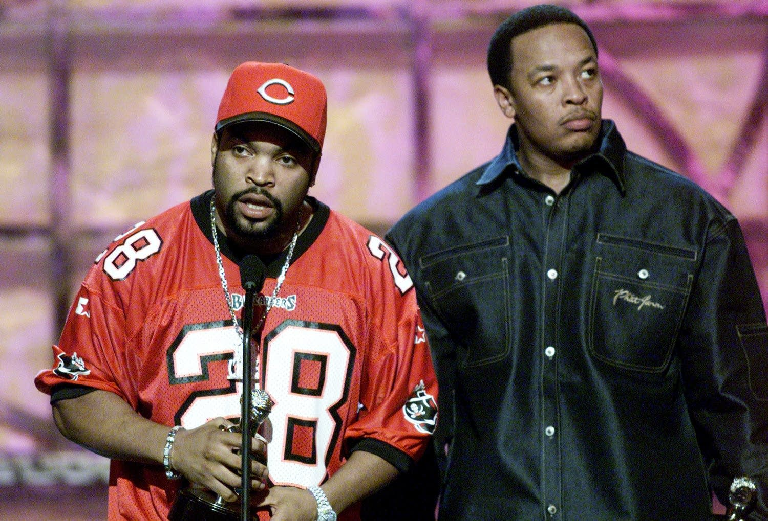 Ice Cube and Dr. Dre of N.W.A.
