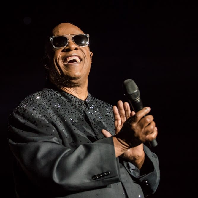 Stevie Wonder performs at Target Center, Minneapolis, in 2015.